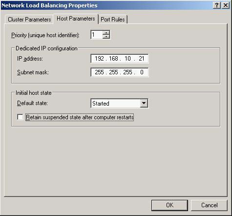 网络负载平衡(网络负载均衡、NLB、集群) 设置示意图