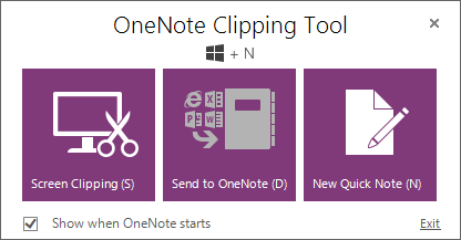 OneNote 2013 Clipping Tool